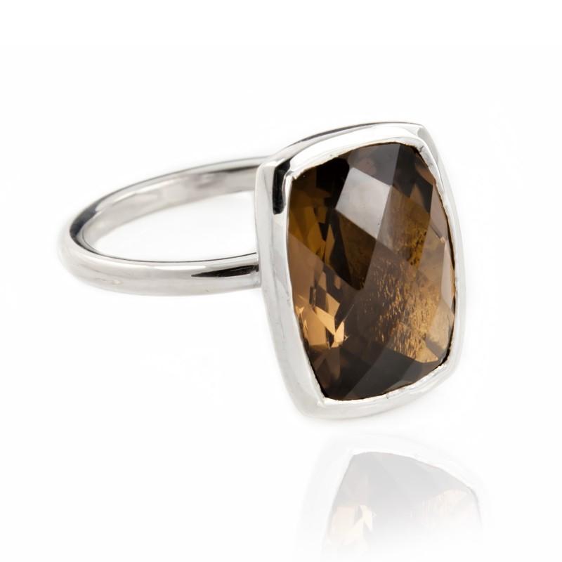 Desert Earth Quartz Ring in Sterling Silver