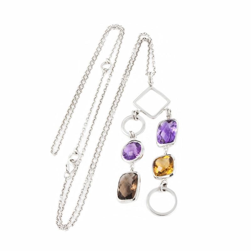 Desert Light Goddess Necklace in Sterling Silver