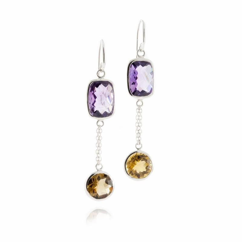 Desert Moonlight Chandelier Earrings in Sterling Silver
