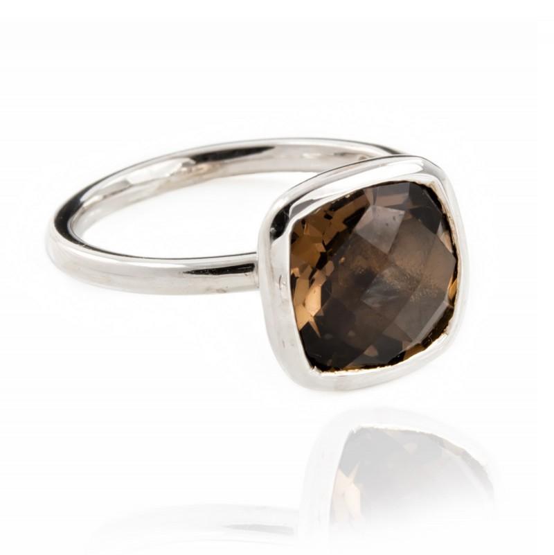 Desert Night Quartz Ring in Sterling Silver