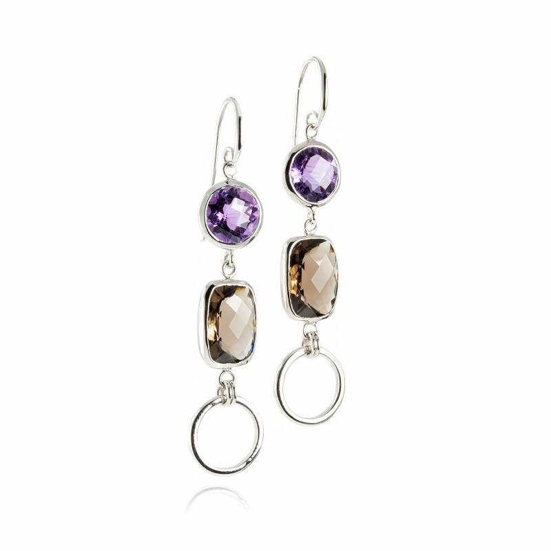 Desert Night's Queen Chandelier Earrings in Sterling Silver