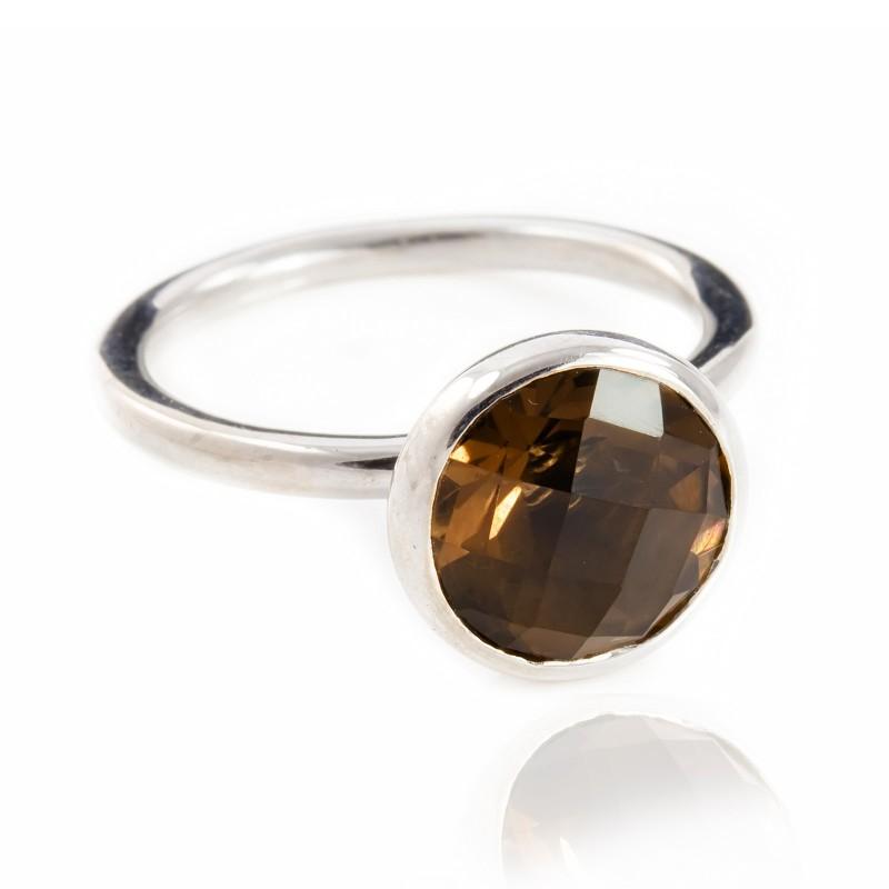 Desert Sand Quartz Ring in Sterling Silver