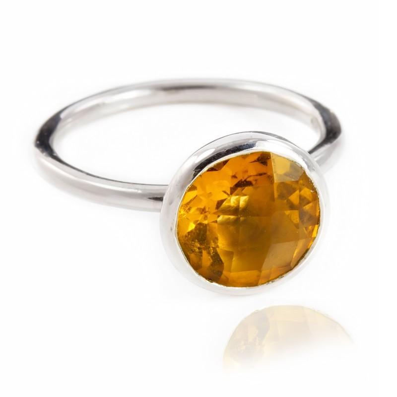 Desert Sun Quartz Ring in Sterling Silver