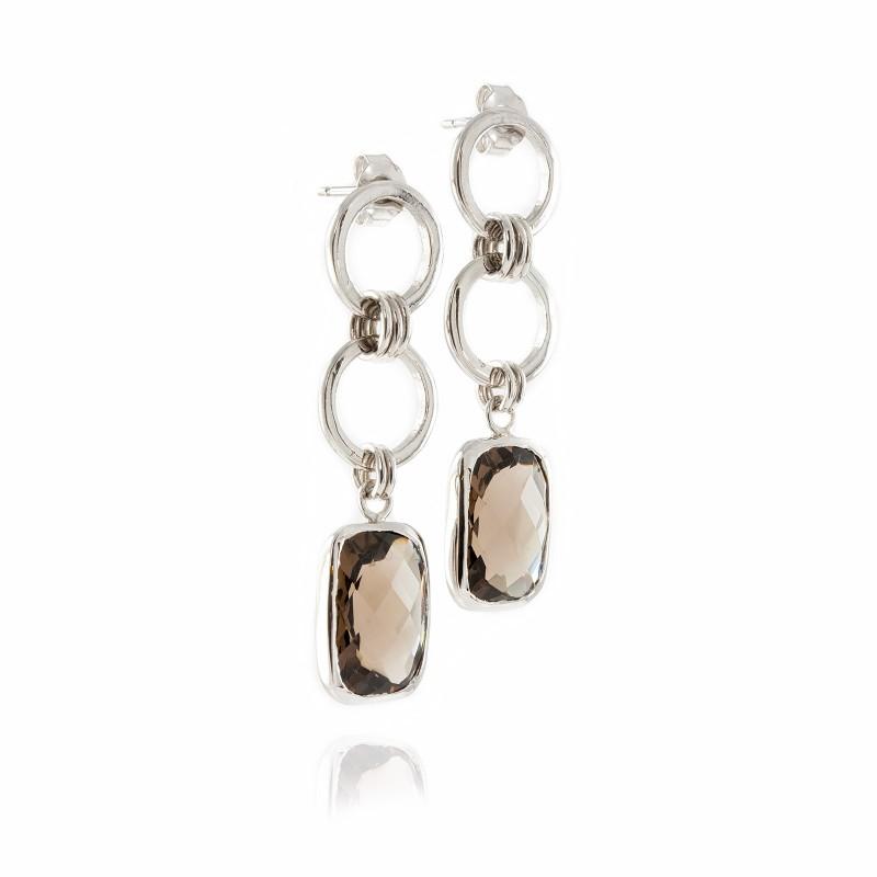 Desert Sunlight Chandelier Earrings in Sterling Silver