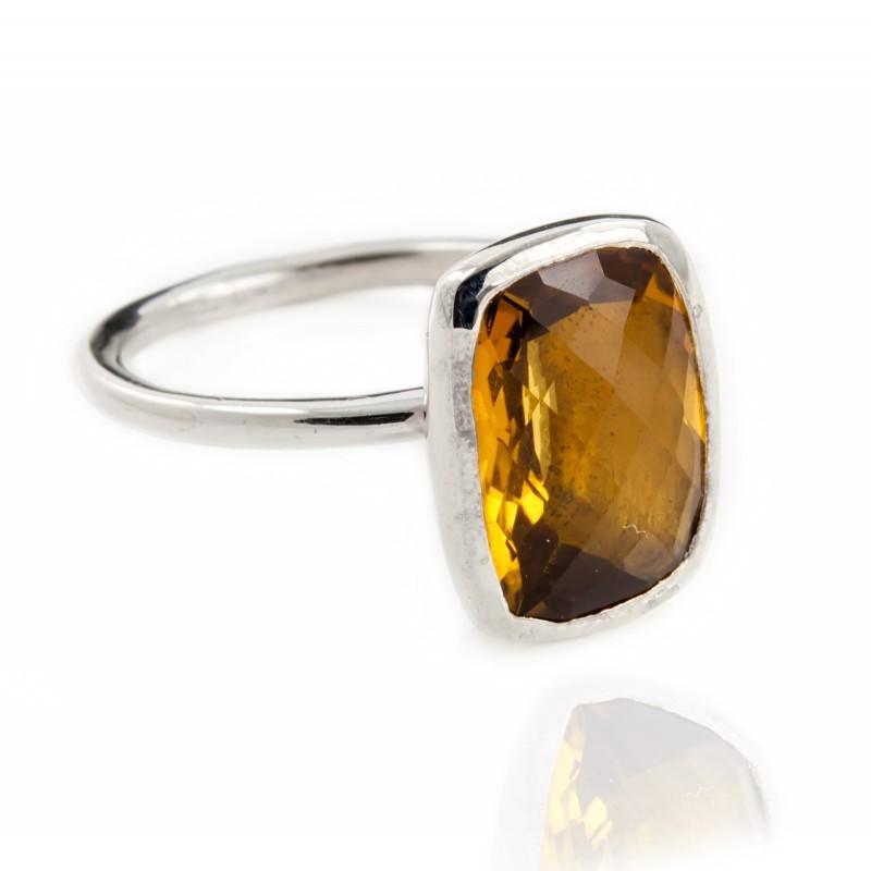 Desert Sunrise Quartz Ring in Sterling Silver