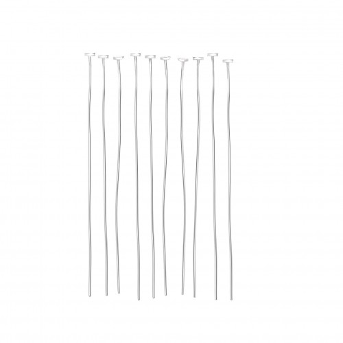 Disc-Head Pins in Sterling Silver - 50mm Long
