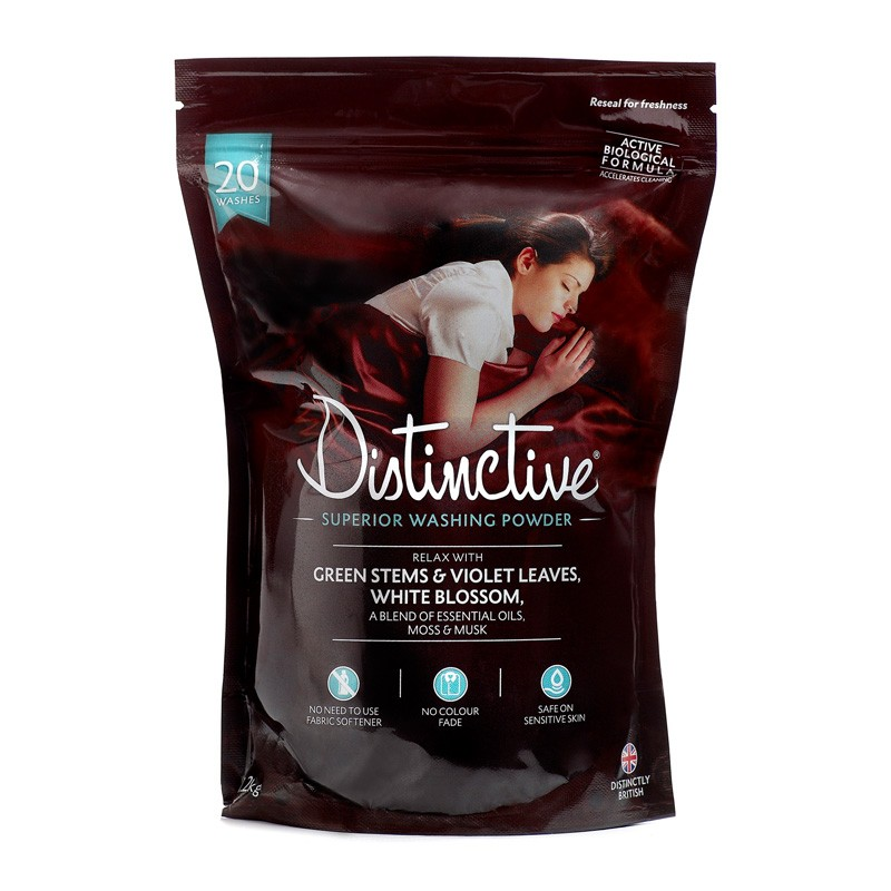 Distinctive Washing Powder - Relaxing Essential Oils fragrance - perfect for a Good Nights Sleep