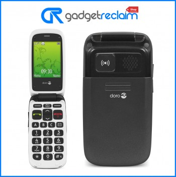 Doro PhoneEasy 612 Flip Phone - Big Button - Black/White | Unlocked | Grade B