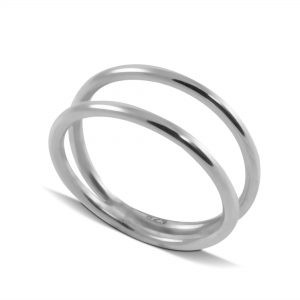 Double Shank Plain Ring in Sterling Silver