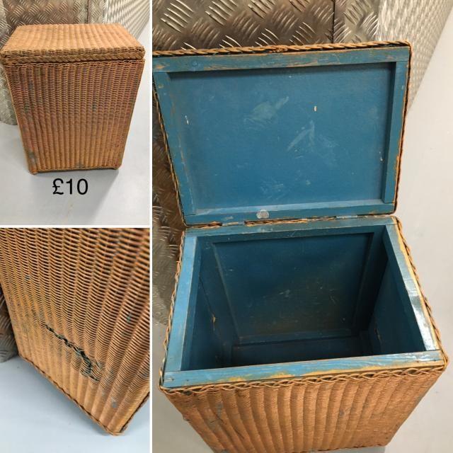 lloyd loom linen basket - damage one side