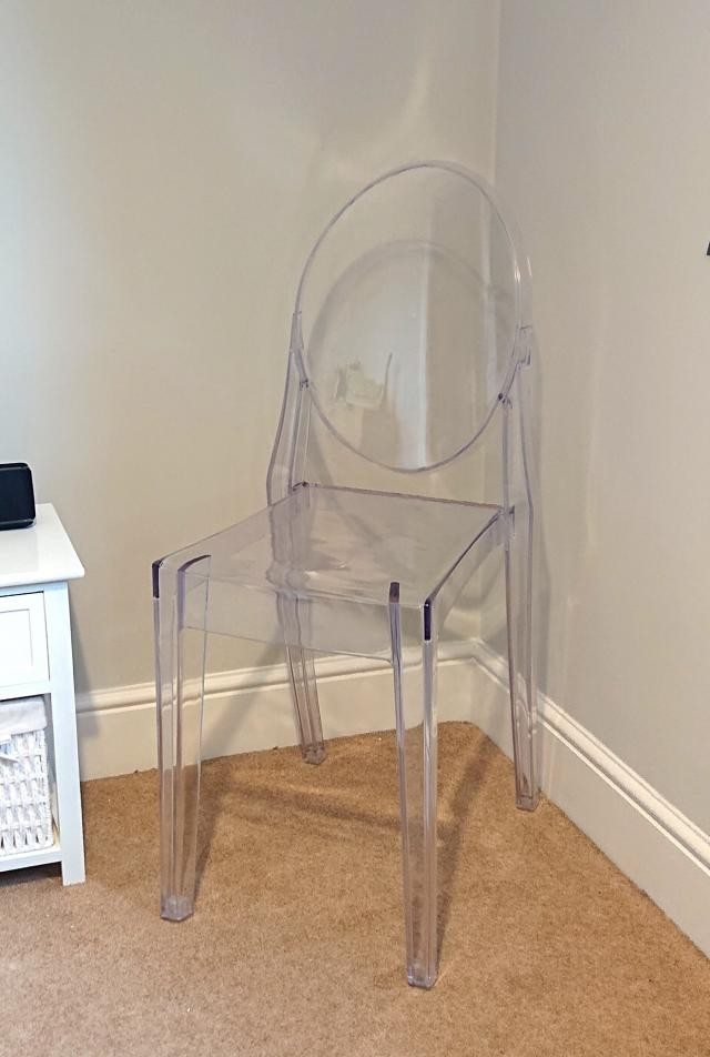 Clear/Transparent ghost chair/bedroom accent dining chair