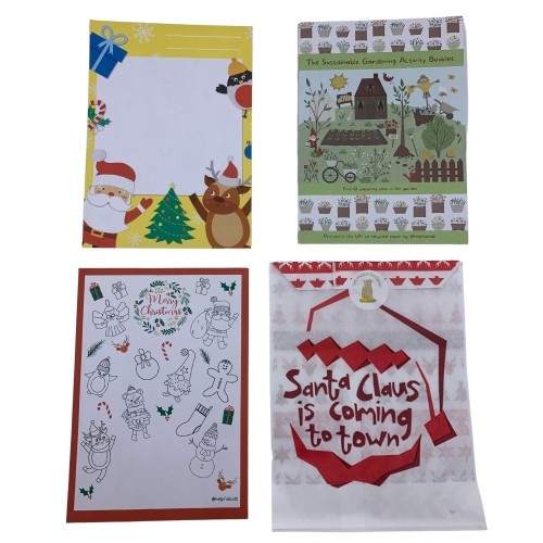 Eco-friendly Garden Christmas Stocking Filler with Activity Booklet on Recycled Paper