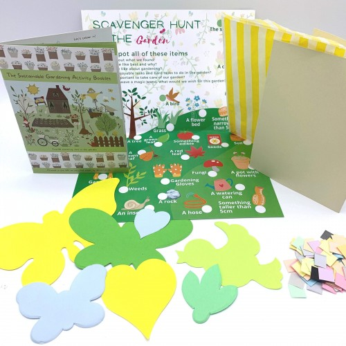 Garden-themed Kids Activities; Pre-filled Birthday Party Bag