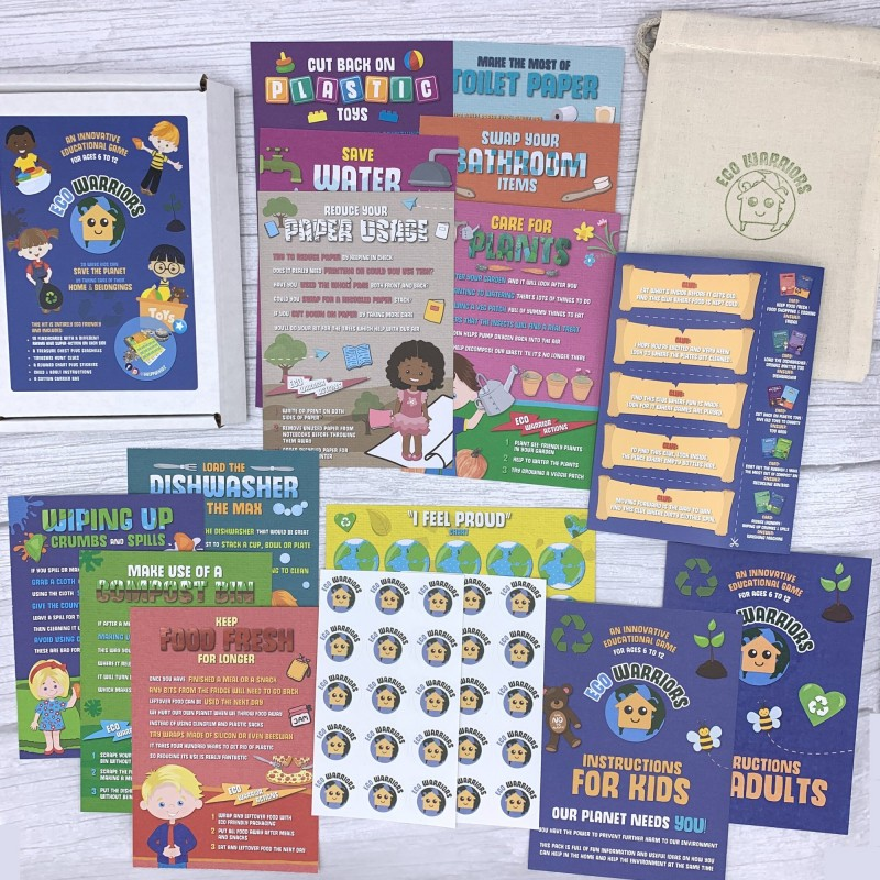 Eco Warriors Home Flash Cards Game, Kids Learn Chores & Fight Climate Change 1