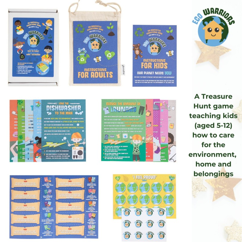 Eco Warriors Home Flash Cards Game, Kids Learn Chores & Fight Climate Change 2