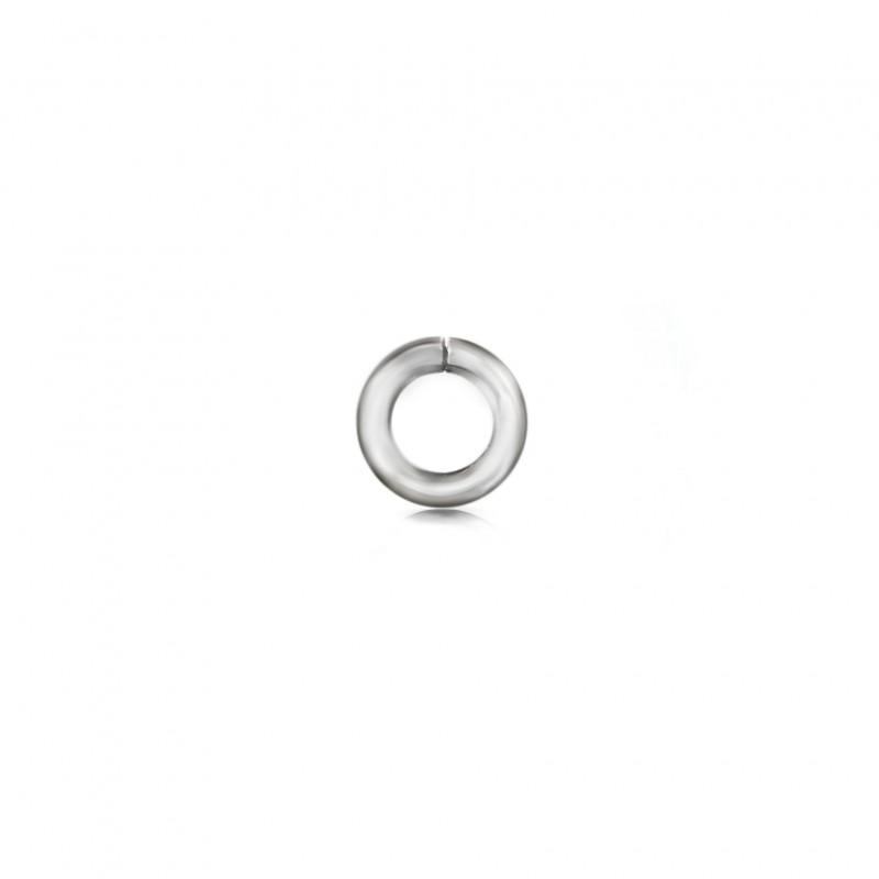 Extra Strong Open Jump Rings in Sterling Silver – 10mm Diameter – 2.5mm Thickness