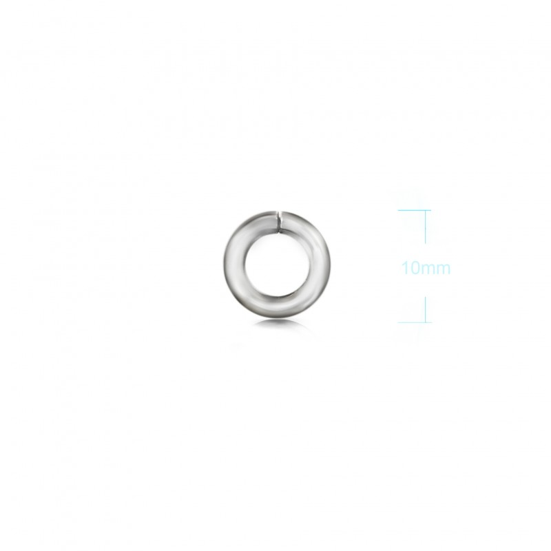 Extra Strong Open Jump Rings in Sterling Silver – 10mm Diameter – 2.5mm Thickness 2