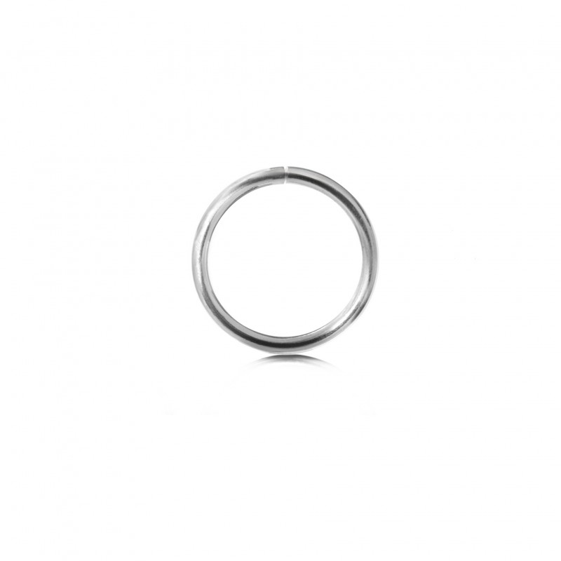 Extra Strong Open Jump Rings in Sterling Silver – 15mm Diameter – 2.5mm Thickness