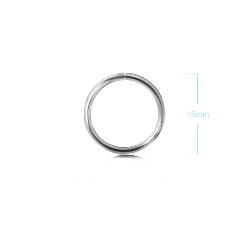 Extra Strong Open Jump Rings in Sterling Silver – 15mm Diameter – 2.5mm Thickness 2