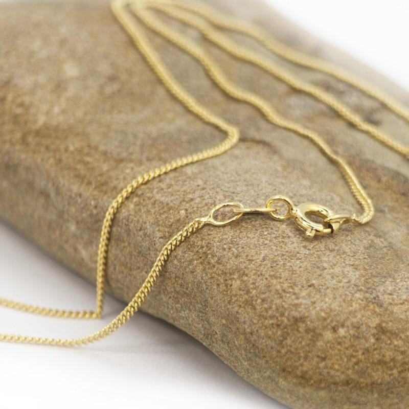 Fine Diamond Cut Curb Chain in Gold Vermeil- Various Lengths 2