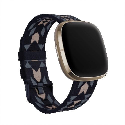 Fitbit Sense Advanced Smartwatch | Soft Gold with Woven Pendleton Band | Grade B