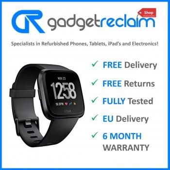 Fitbit Versa Fitness Smartwatch Black   Size Medium   Grade B