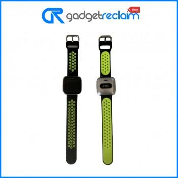 Fitbit Versa Lite Fitness Smartwatch Black/Green Sport band | Grade B