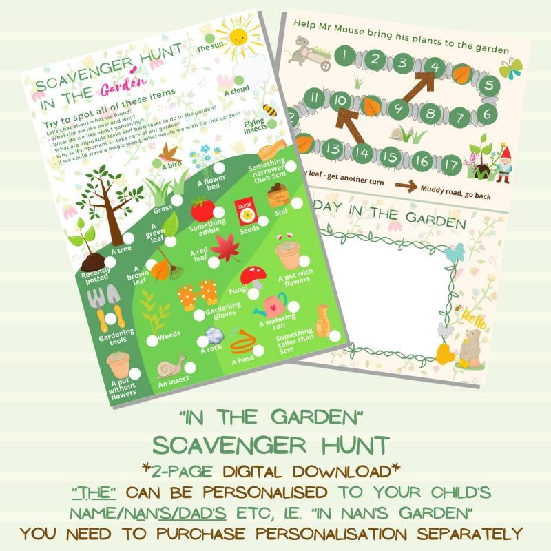 Garden Scavenger Hunt for Kids - Digital Printable 1