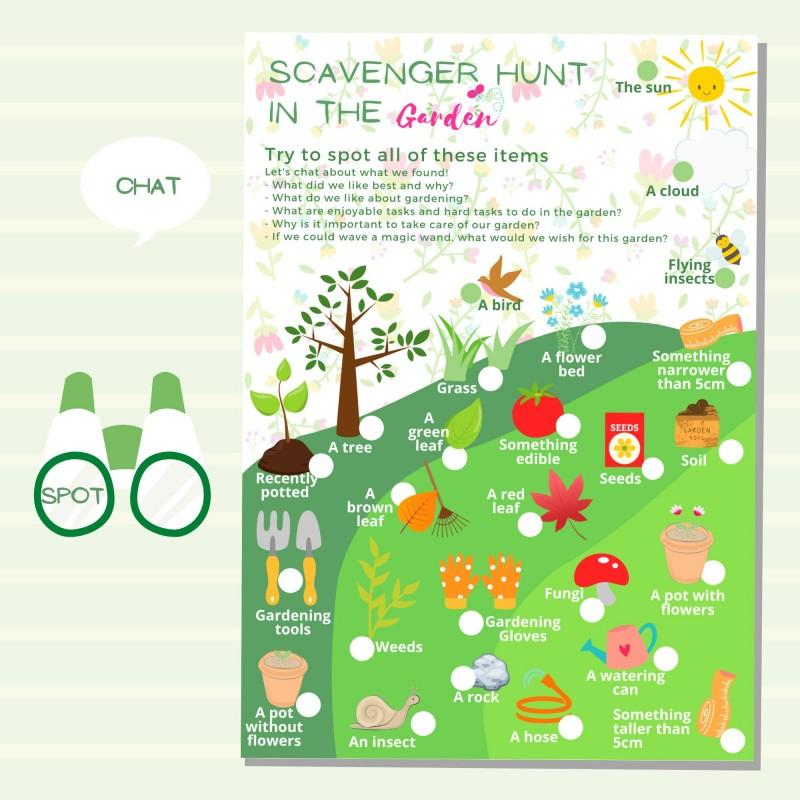 Garden Scavenger Hunt for Kids - Digital Printable 2