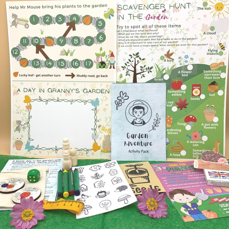 Gardening Letterbox Activity Pack for Kids, Eco Friendly 1
