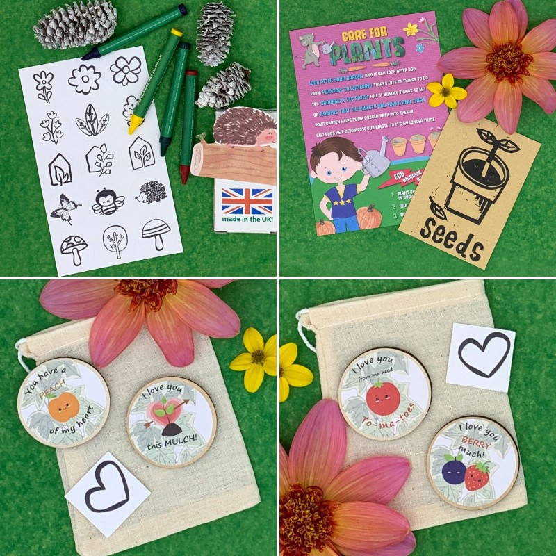 Gardening Letterbox Activity Pack for Kids, Eco Friendly 5