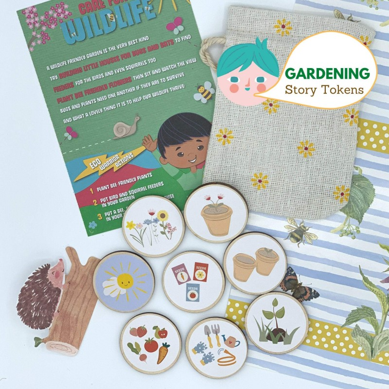 Gardening Story Tokens for Kids, Fostering Imagination and Love for Nature 1