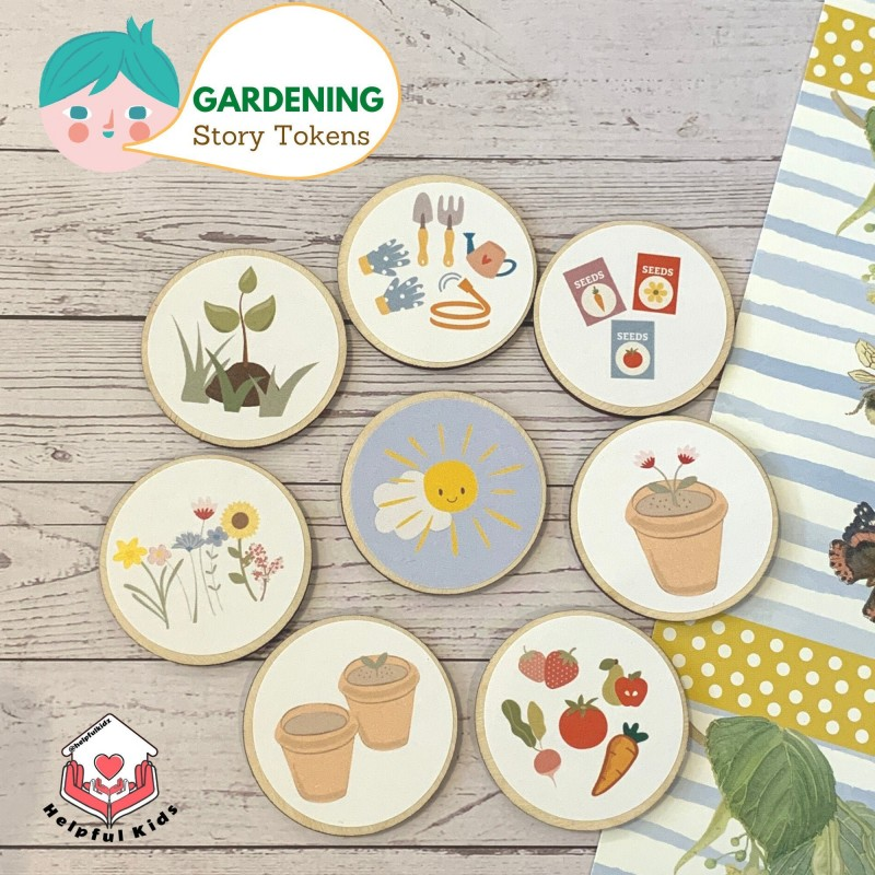 Gardening Story Tokens for Kids, Fostering Imagination and Love for Nature 3