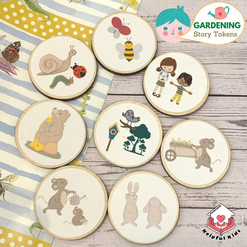 Gardening Story Tokens for Kids, Fostering Imagination and Love for Nature 4