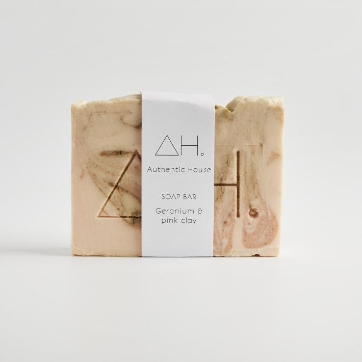 Geranium & pink clay soap 2