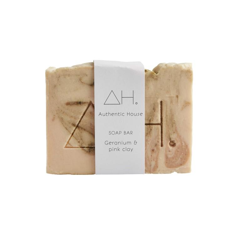 Geranium & pink clay soap 3
