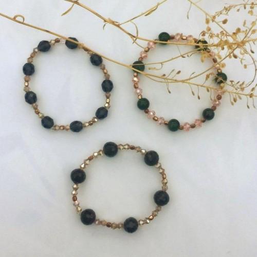 glass beaded summer bracelet