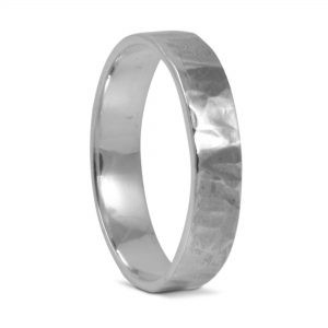 Hammered Bashed Band in Sterling Silver