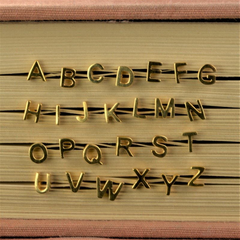 Initial studs/Alphabet studs in 14ct Solid Gold