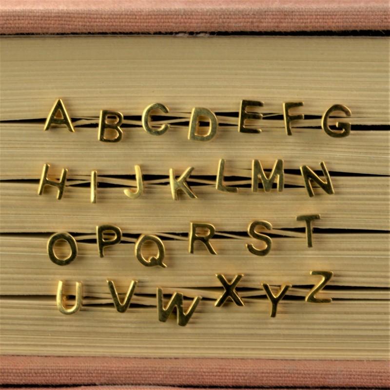 Initial studs/Alphabet studs in Gold Vermeil
