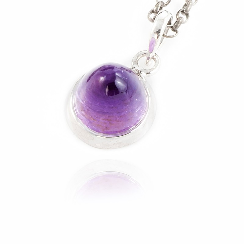 Istanbul Silk Amethyst Pendant Necklace in Sterling Silver