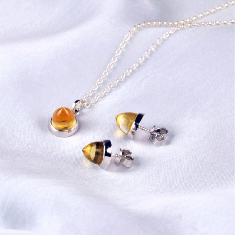 Istanbul Spice Citrine Jewellery Set in Sterling Silver