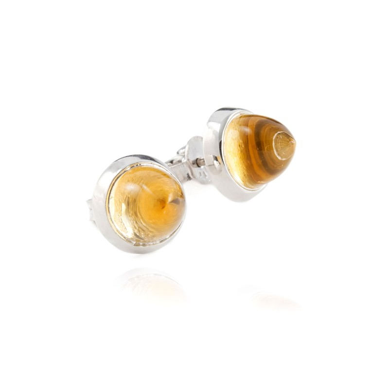 Istanbul Spice Citrine Studs in Sterling Silver