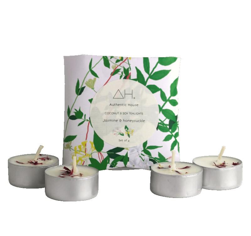 Jasmine & Honeysuckle tealights (set of 4) 2