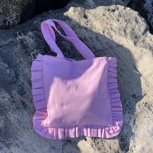 Pink Large Ruffle Bag