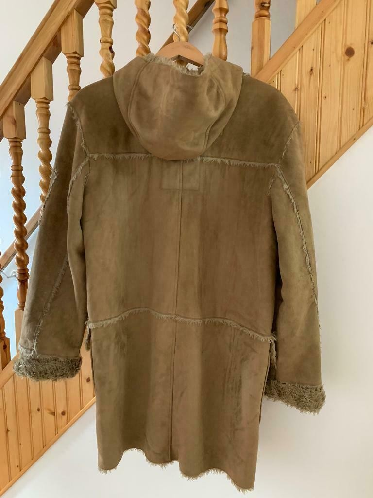 river island faux suede jacket size L