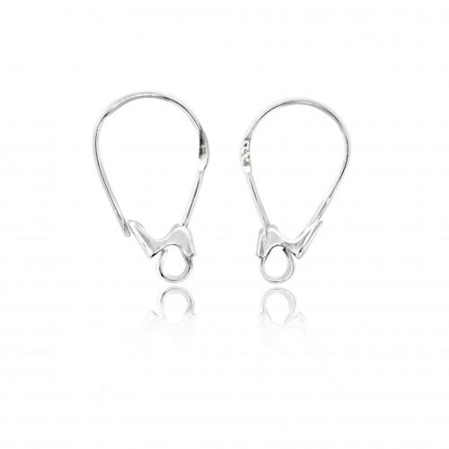Leverback  Earring Findings in 925 Sterling Silver