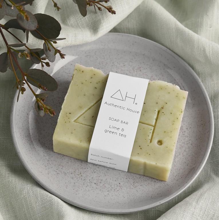 Lime & green tea soap
