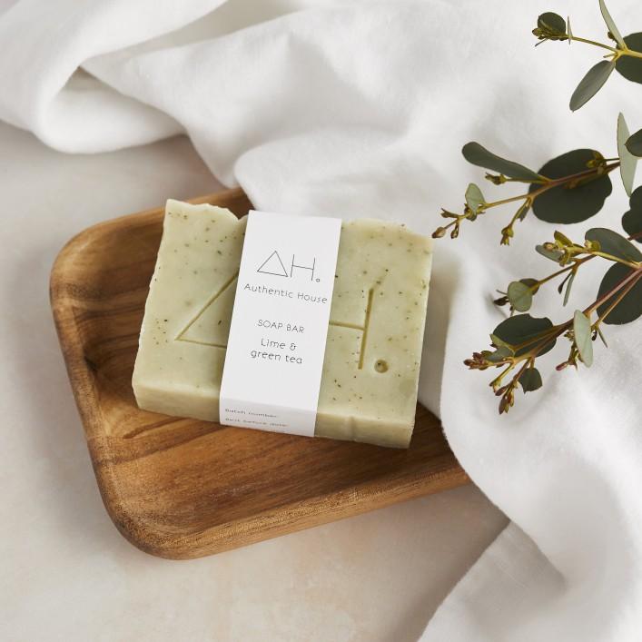 Lime & green tea soap 5