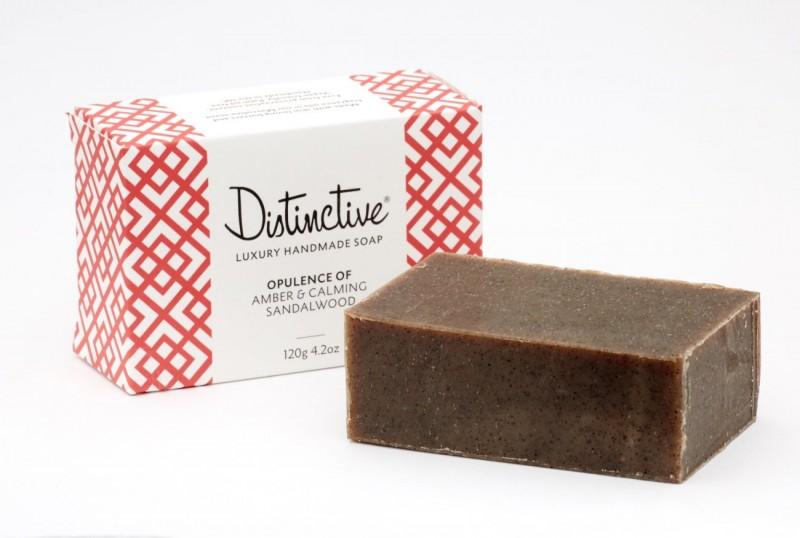 Luxury Handmade Soap - Masculine Amber & Sandalwood Scent